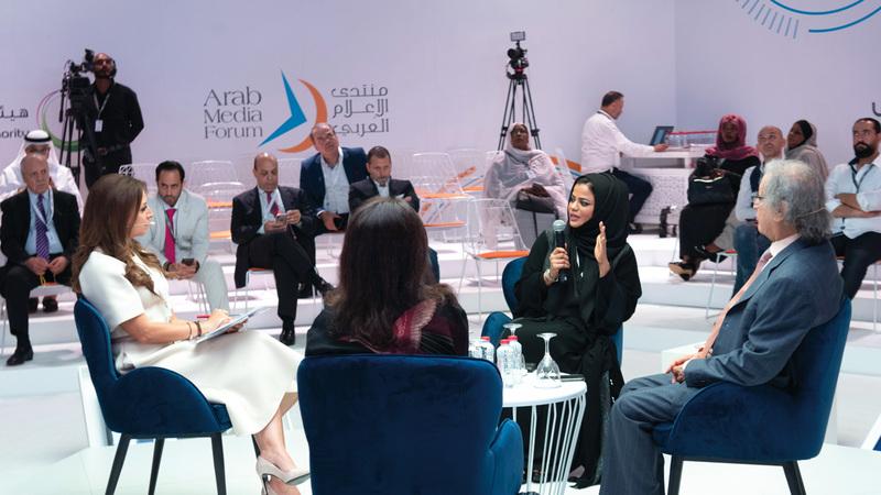رؤساء تحرير صحف يناقشون مستقبل الصحف الورقية. تصوير: أحمد عرديتي