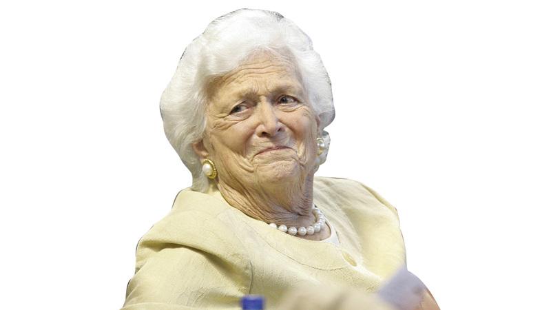 السيدة الأميركية الأولى الراحلة باربرا بوش. أ.ب