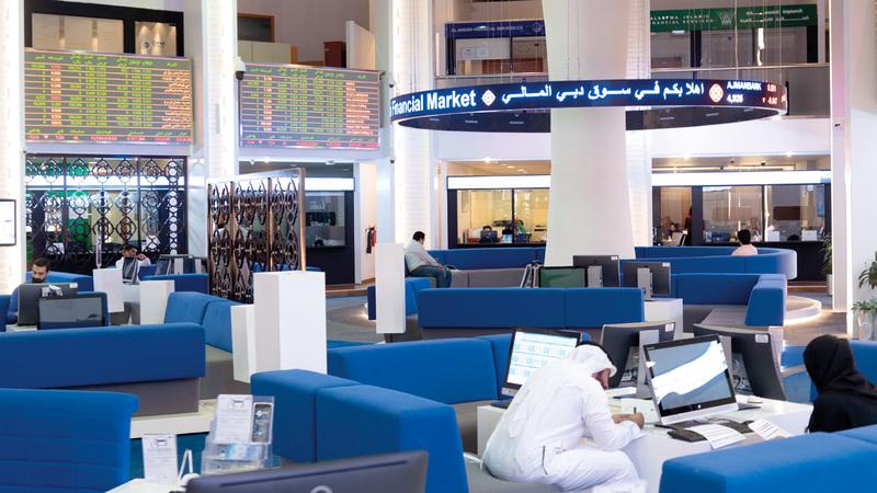 مؤشر سوق دبي أغلق عند 2631.27 نقطة في جلسة نهاية الأسبوع. تصوير: أحمد عرديتي