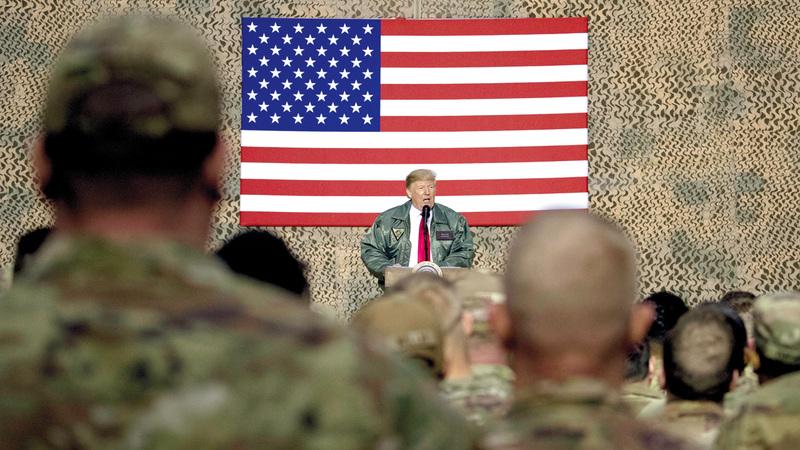 ترامب وصل إلى العراق دون علم الحكومة. أ.ب