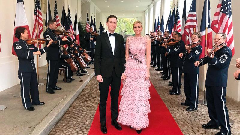 الشكوك تحوم حول ثروة غاريد وإيفانكا خصوصاً أنهما تخليا عن راتبيهما في البيت الأبيض لعدم تضارب المصالح.  أرشيفية