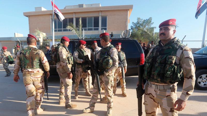 القوات العراقية لا تستطيع محاربة «داعش» وحدها. أ.ف.ب