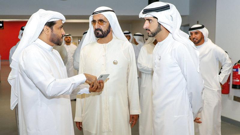 محمد بن راشد أشاد خلال زيارته لـ«دبي أرينا» بدور القطاعين شبه الحكومي والخاص في طرح أفكار المشروعات وتنفيذها.  وام