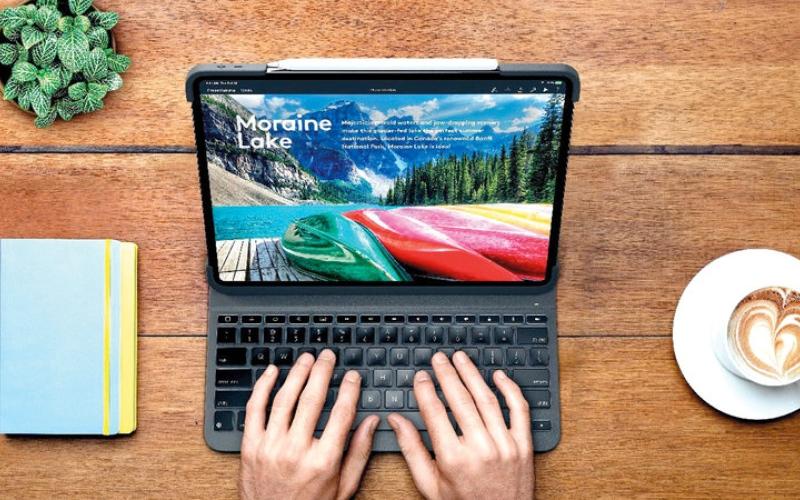 الصورة: لوحة مفاتيح سويسرية جديدة لـ«آي باد برو»