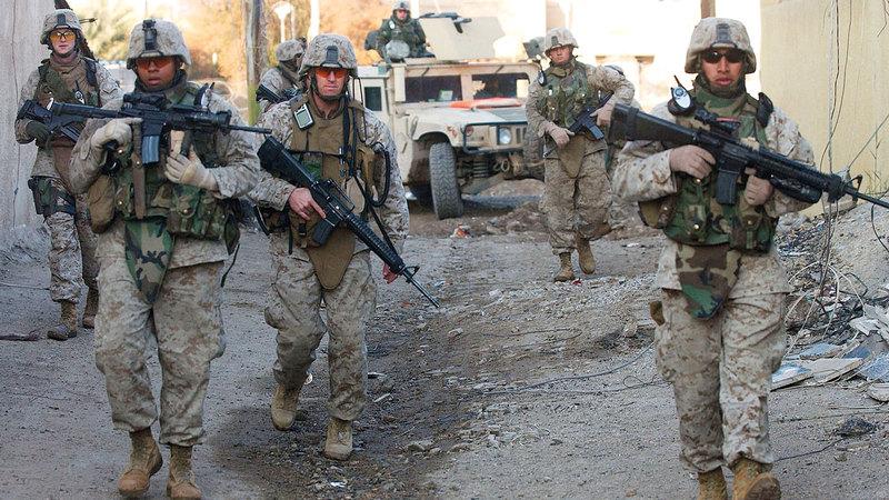 الجيش الأميركي الذي غزا العراق مني بإصابات كثيرة. غيتي