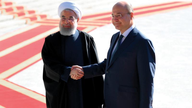 روحاني يلتقى برهم صالح في بغداد. أرشيفية