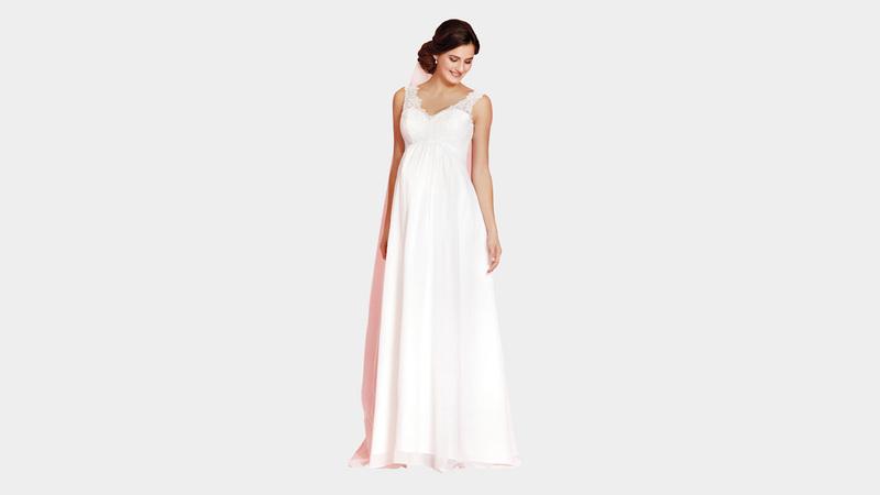 فستان الإمباير ستايل يمتاز بقصة ذات وسط يبدأ من أسفل الصدر مباشرة. د.ب.أ