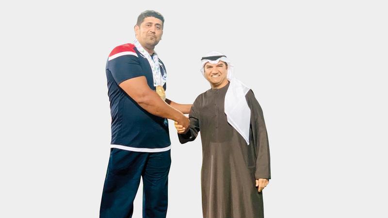 من تتويج سابق لعبدالله الظنحاني. الإمارات اليوم