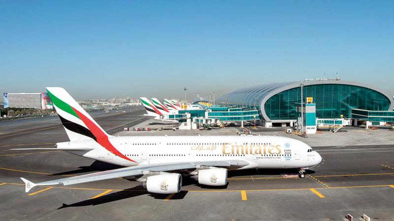 «مطارات دبي» أصدرت إشعاراً مسبقاً إلى شركات الطيران للتخطيط لخفض الرحلات ولجدول زمني جديد. أرشيفية