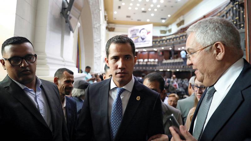 زعيم المعارضة خوان غوايدو دعا إلى تظاهرات جديدة في البلاد.  رويترز