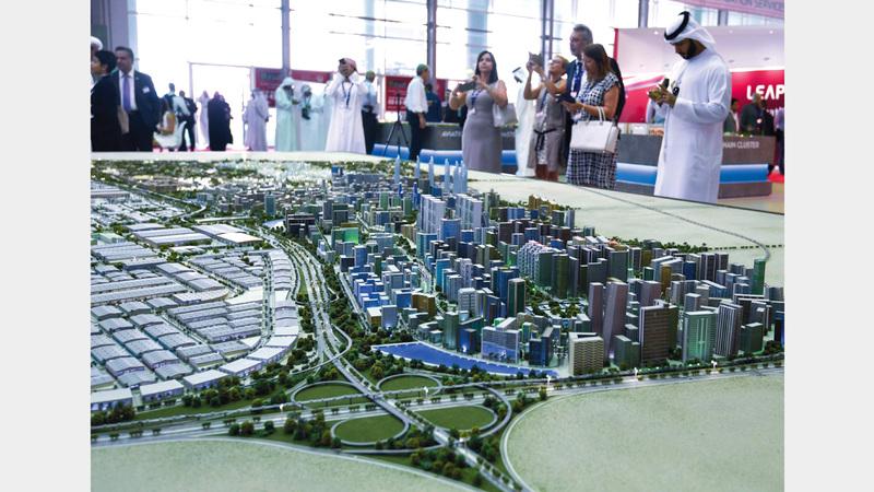نسب الإشغال في مجمع الأعمال بـ«دبي الجنوب» تبلغ 70% حالياً. تصوير: أشوك فيرما