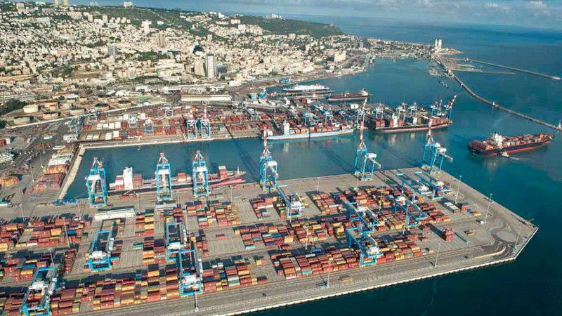 ميناء حيفا يستضيف سفن الأسطول السادس الأميركي بما فيها حاملات الطائرات. أرشيفية