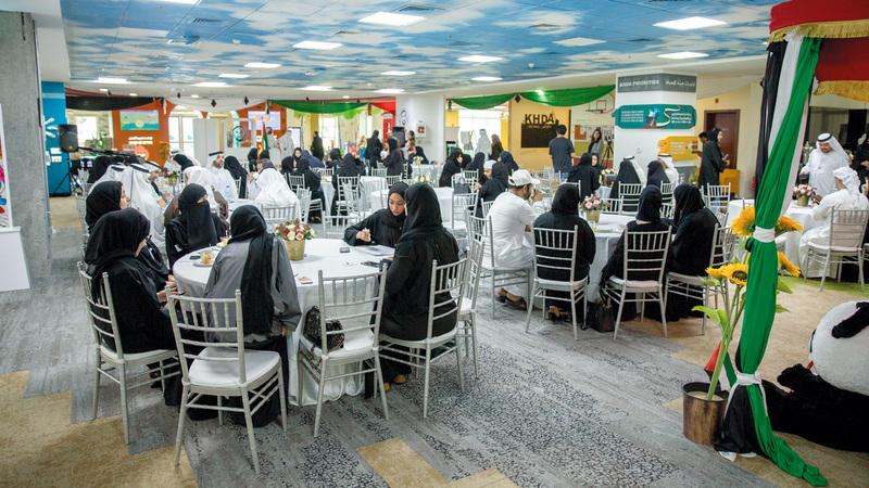 خلال ملتقى أولياء أمور الطلبة الملتحقين ببرنامج محمد بن راشد للطلبة المتميزين. من المصدر