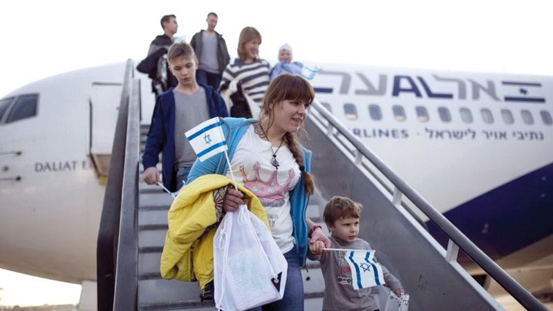 لاجئون يهود قادمون من روسيا إلى إسرائيل. أرشيفية
