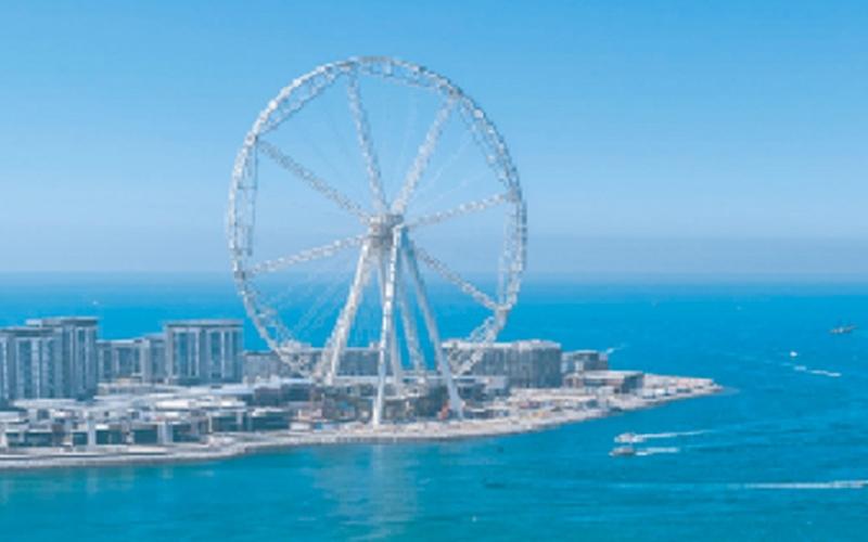 الصورة: بالفيديو.. «عين دبي».. أعلى عجلة ترفيهية في العالم تحتفل بـ«إكسبو 2020»