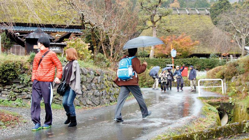 قرية «كيابوكي نو ساتو» الصغيرة تشتهر بمنازلها التقليدية. أرشيفية
