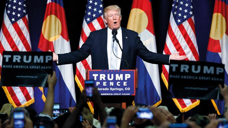 ترامب يقوم بحملة إعادة انتخابه اعتماداً على ناخبيه السابقين. أ.ب