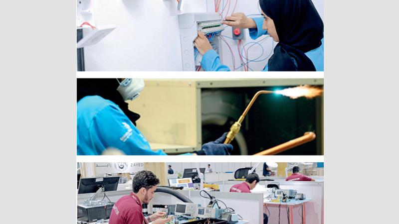 المسابقة تهدف إلى زيادة وعي الشباب الإماراتي بالتعليم الفني والمهني. من المصدر