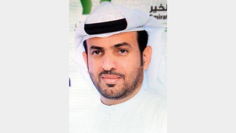أحمد المهيري: «التبرع جاء من منطلق حرص (إسلامية دبي) على تقديم المساعدة لمن يحتاجها».