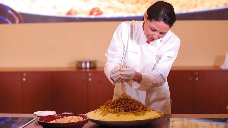 الفعالية تتيح لزوّارها فرصة تجربة أطباق خاصة من المطبخ المغربي. من المصدر