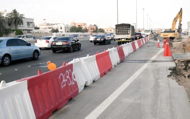 الصورة: شرطة أبوظبي تدعو إلى خفض السرعات على طريق الشيخ زايد ـ القرم