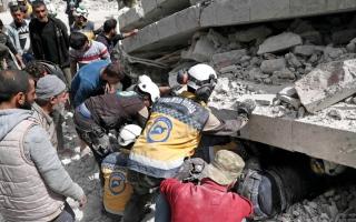 الصورة: مقتل 17 في انفجار بمدينة جسر الشغور السورية