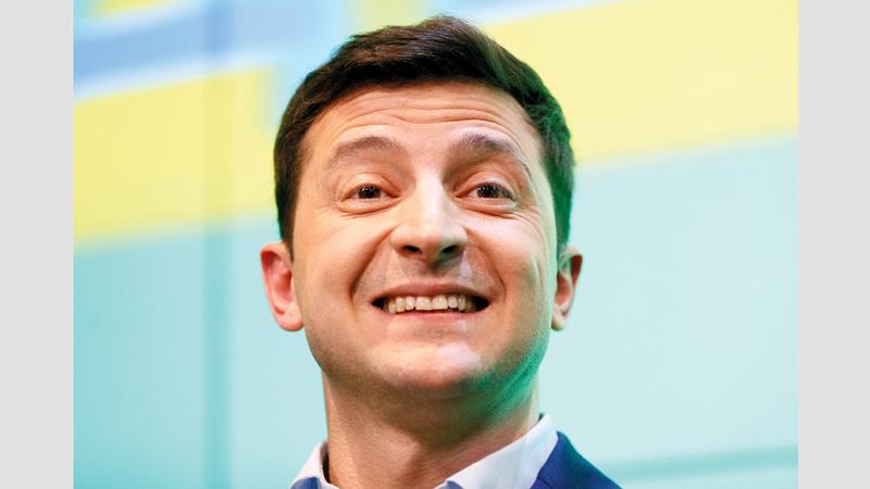 الرئيس الأوكراني المنتخب فولوديمير زيلينسكي. رويترز