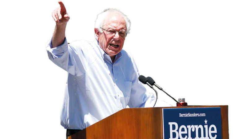 السيناتور بيرني ساندرز يمثل الجيل القديم من الديمقراطيين. أ.ف.ب