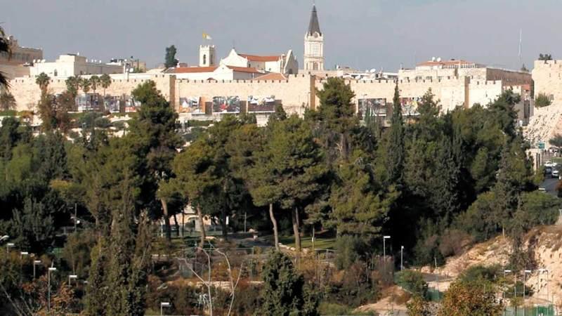 حديقة داوود التي تشرف عليها وتديرها جمعية إلعاد. الإمارات اليوم