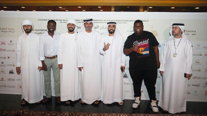 سينمائيون مشاركون في المهرجان أكدوا أنه يمتلك هوية خاصة تتمثل في التركيز على صناع الأفلام والفنانين المحليين والخليجيين.  الإمارات اليوم