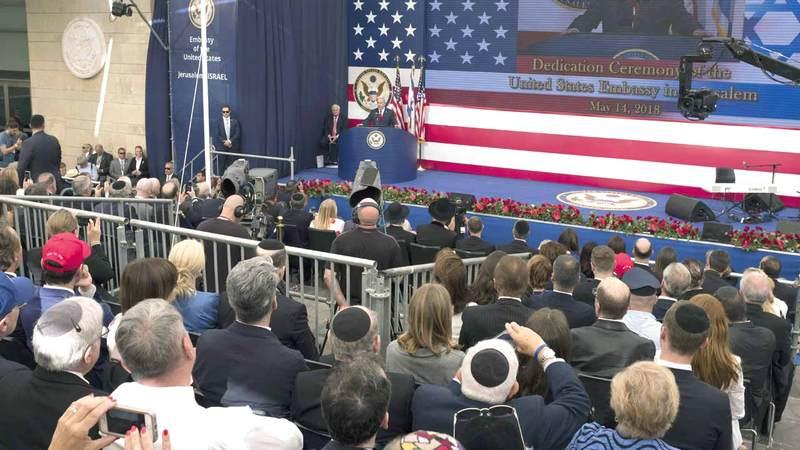 حفل افتتاح السفارة الأميركية في القدس خطوة غير مسبوقة في السياسة الأميركية. غيتي