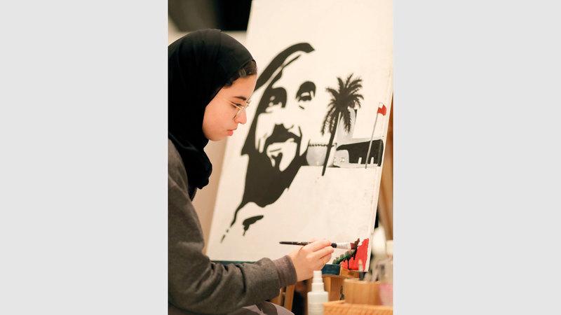 المعرض يعد تتويجاً لبرنامج «موهبتي» في الفنون المرئية وفنون الأداء.  من المصدر