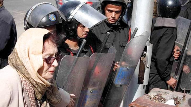 محسنة توفيق شاركت في ثورة يناير. أرشيفية