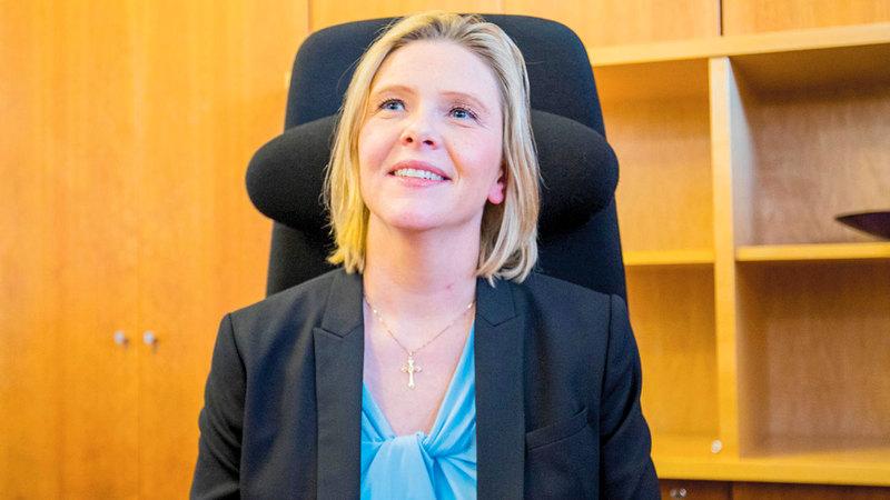 سيلفي ليستوغ بعد تعيينها وزيرة للصحة. رويترز