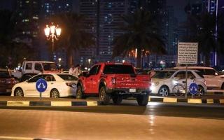 الصورة: اختناقات مرورية في الشارقة وعجمان أثناء «التراويح»