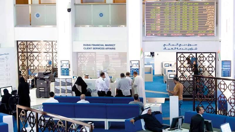 سوق دبي المالي ارتفع بنسبة 3.64% أمس ليغلق عند 2612.98 نقطة. تصوير: أحمد عرديتي