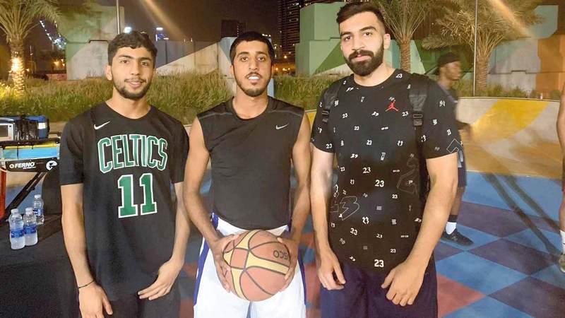 أعضاء فريق نادي النصر. الإمارات اليوم