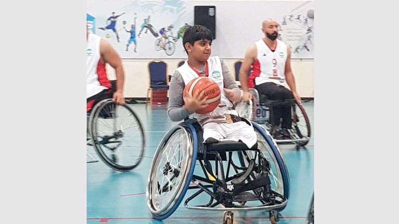 محمد الشحي خلال منافسات البطولة. من المصدر