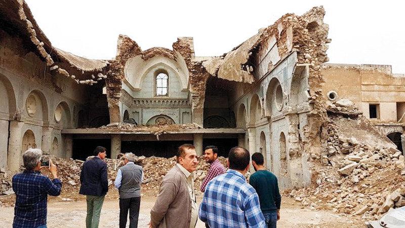 معظم المواقع الأثرية في الموصل تعرّضت للتدمير على يد «داعش». من المصدر
