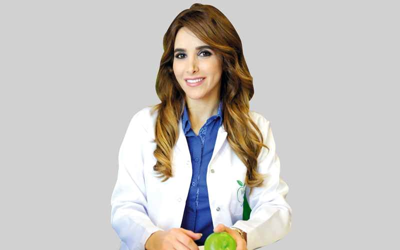 أخصائية الصحة والتغذية من «ويلناس باي ديزاين»  لمى النائلي.
