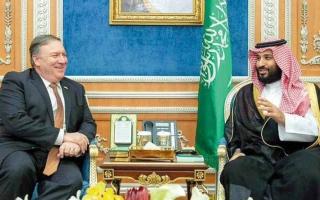 ولي العهد السعودي يبحث هاتفياً مع بومبيو التطورات في المنطقة