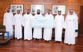 الصورة: «إسلامية دبي» تتسلّم شيك تبرع «دار البر»