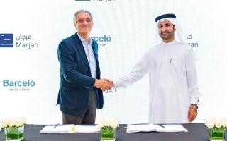 «مرجان العقارية» و«بارسيلو الفندقية» توقعان اتفاقية لإدارة فندق في جزيرة المرجان