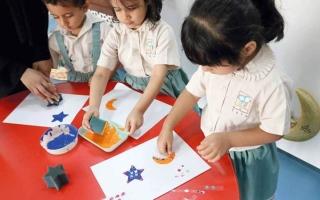 الصورة: ورش فنية للأطفال من أجواء رمضان