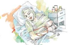 الصورة: متبرّع يتكفل بقيمة جلسة علاج كيماوي لـ «لونا»