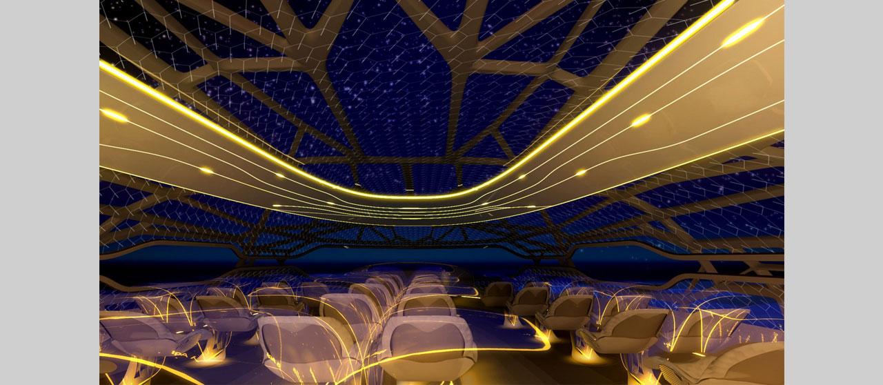 إيرباص ابتكرت مقصورة ذات جدران شفافة.. لمستقبل النقل الجوي