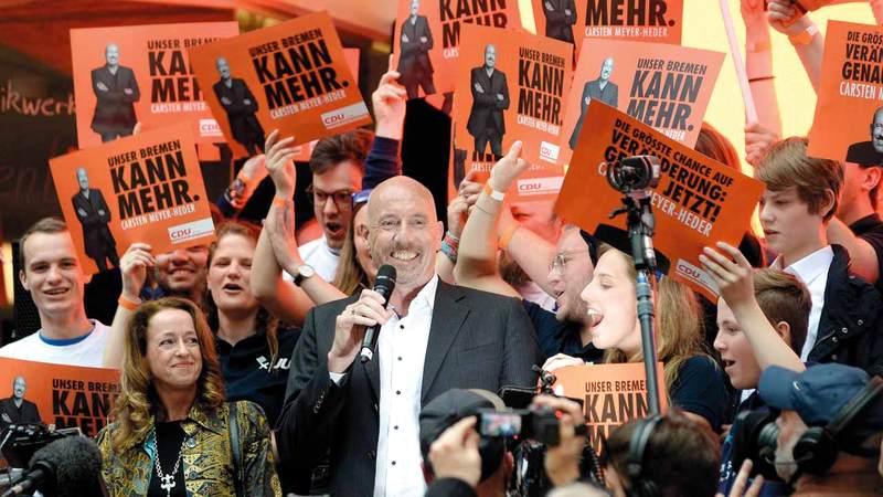 أحد المرشحين عن الحزب الاشتراكي في بريمن.  أرشيفية