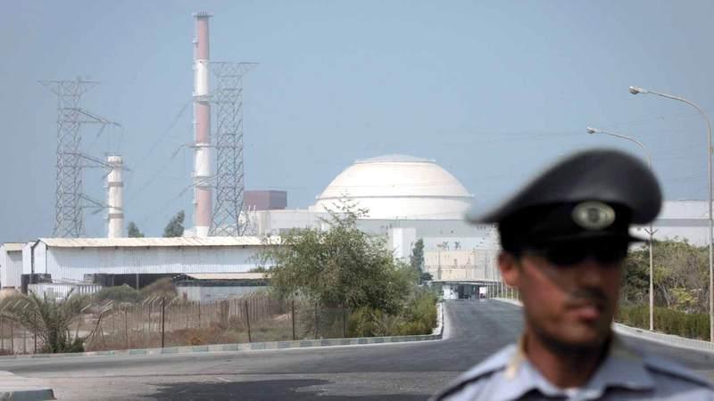 مفاعل بوشهر بنته روسيا وتقوم بتوسيعه حالياً.  غيتي