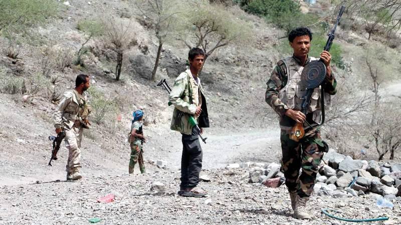 أفراد من قوات الشرعية اليمنية المشاركة  في معارك الضالع. أرشيفية