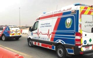 الصورة: «الإسعاف الوطني» يتلقى 1466 بلاغاً عن حوادث مرورية خلال رمضان والعيد